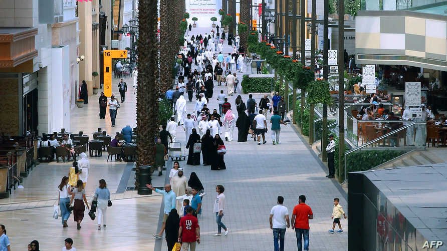 أحد الأسواق التجارية في العاصمة الكويت