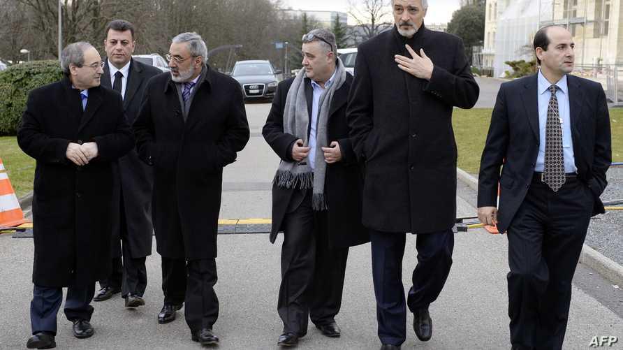 أعضاء من الوفد السوري في جنيف