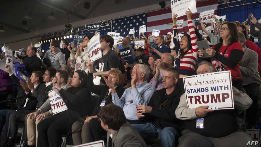 مؤيدو ترامب خلال أحد التجمعات الانتخابية