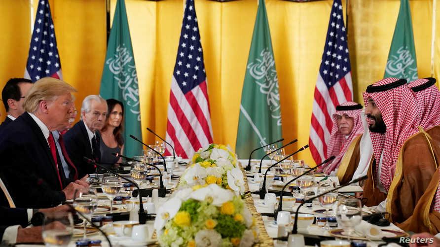 اجتماع الرئيس الأميركي دونالد ترامب مع ولي العهد السعودي محمد بن سلمان
