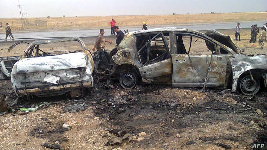 صورة للدمار إثر اعتداء سابق في العراق