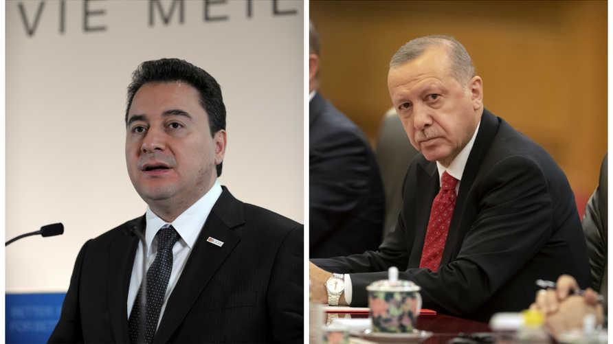 على اليمين الرئيس التركي رجب طيب أردوغان/ وعلى اليسار نائب رئيس الورزاء السابق علي بابجان
