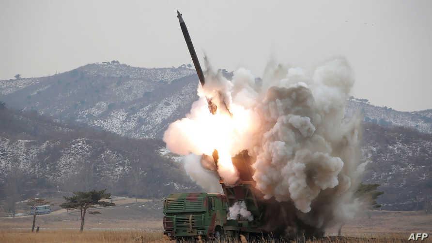 تجربة صاروخية سابقة في كوريا الشمالية