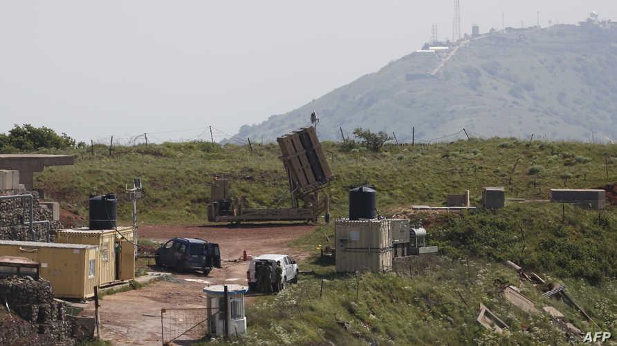 جزء نظام القبة الحديدة الإسرائيلي المصمم لإسقاط الصواريخ قصيرة المدى في الجولان