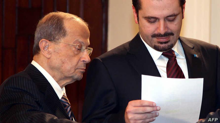 لقاء سابق بين سعد الحريري وميشال عون