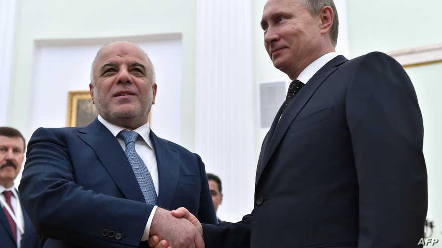 بوتين خلال استقباله للعبادي في الكرملين