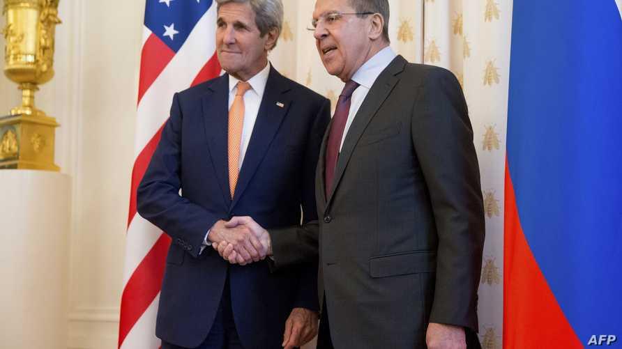 كيري يلتقي لافروف في موسكو