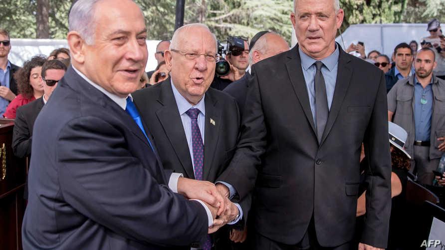 الرئيس الإسرائيلي يتوسط نتنياهو وغانتس