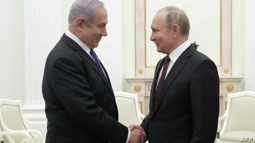 نتانياهو وبوتين في موسكو