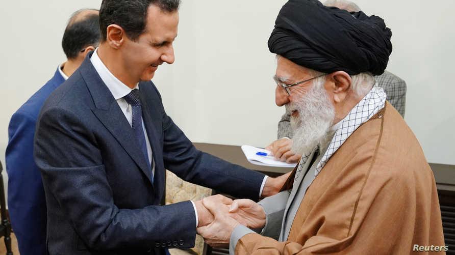 خامنئي مستبقلا الأسد