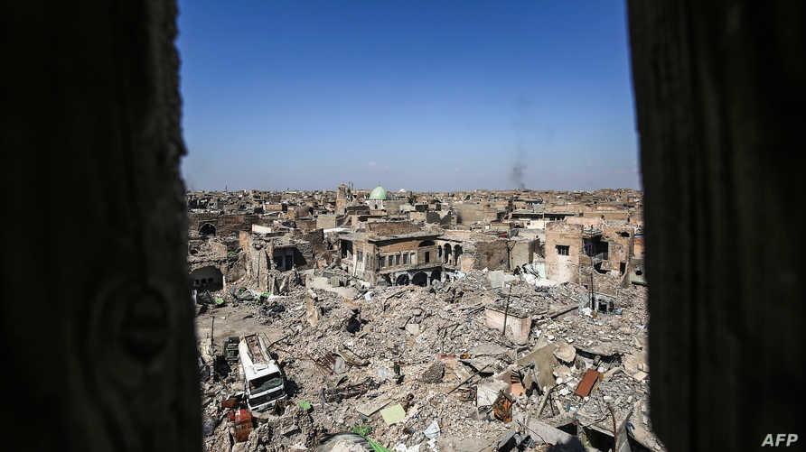 """أحد أحياء الموصل وقد تعرض لدمار كبير خلال تحرير المدينة من """"داعش"""""""