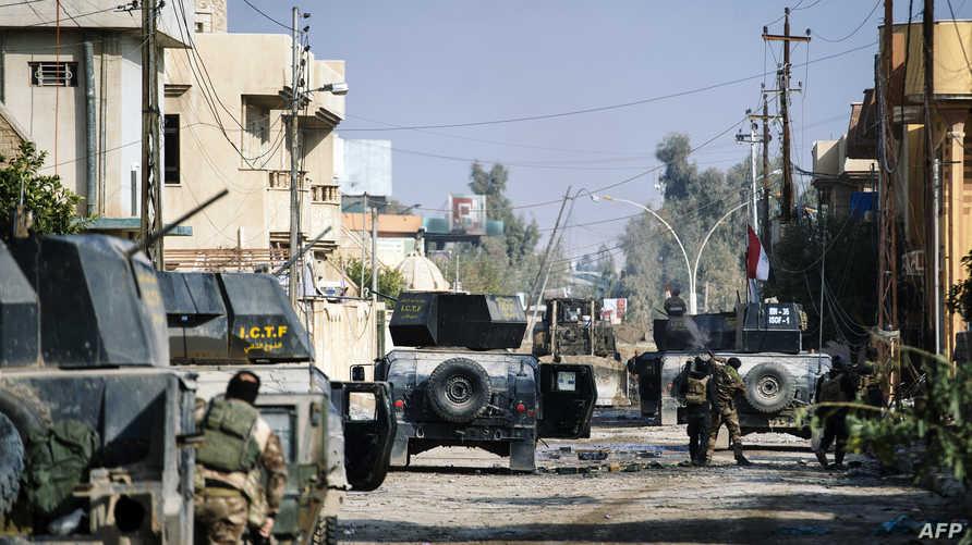 قوات عراقية في إحدى مناطق الموصل