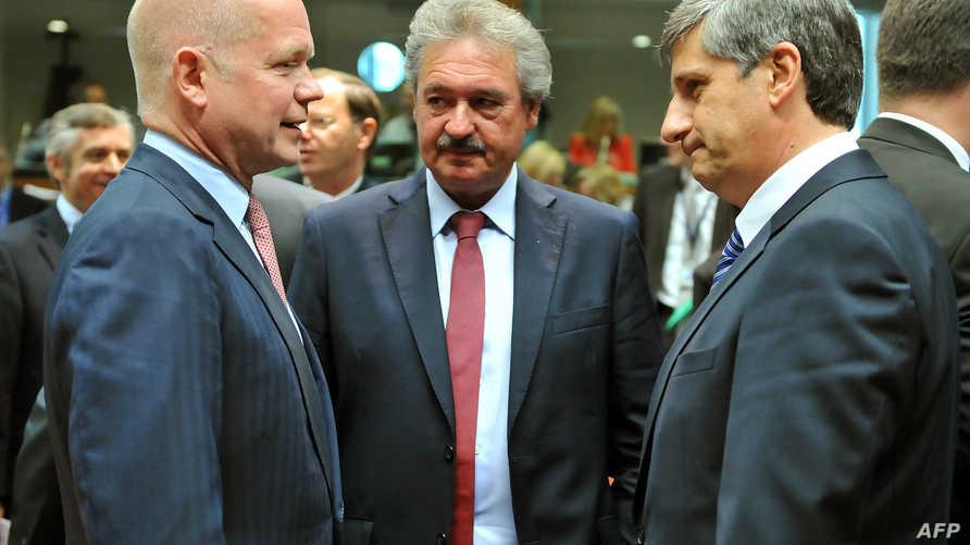جانب من اجتماع وزراء خاريجية الاتحاد الأوربي يوم الاثنين