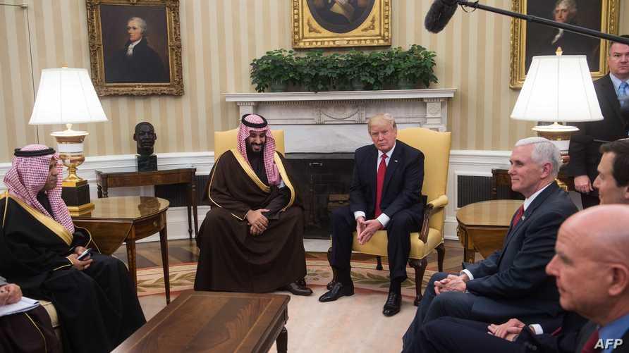 ترامب وبن سلمان في البيت الأبيض