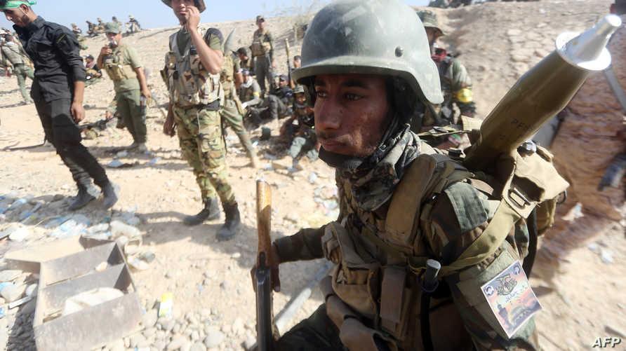 قوات عراقية مشتركة خلال مواجهات مع داعش في الأنبار