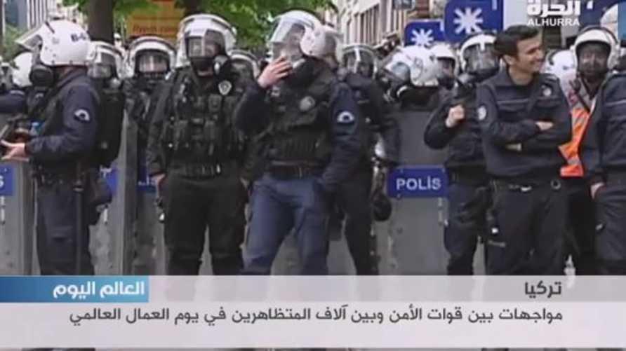 قوات الأمن في تركيا تتصدى لمتظاهرين قرب ميدان تقسيم