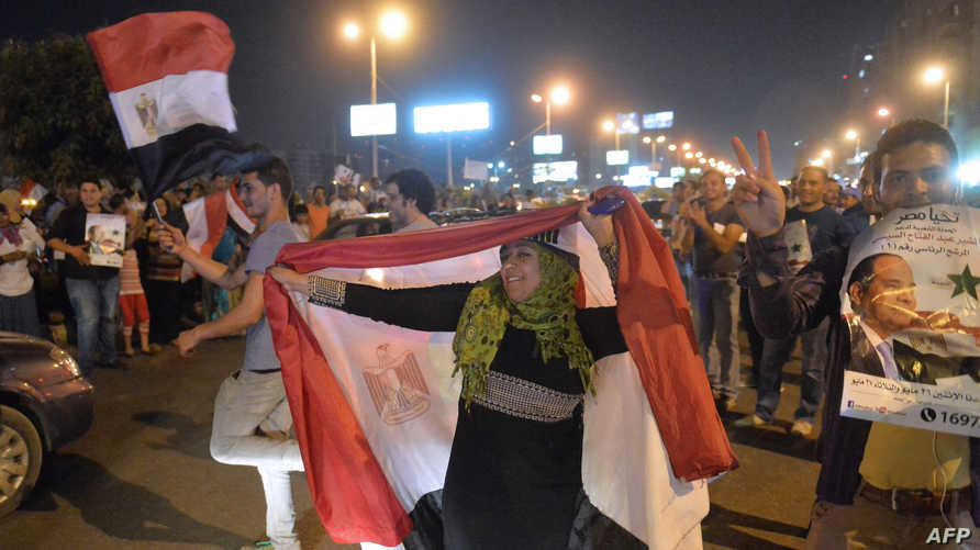 مؤيدو السيسي يحتفلون بعد إعلان النتائج الأولية للانتخابات