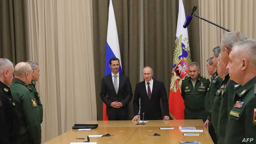 الأسد وحيدا بين بوتين وجنرالاته (أرشيف)