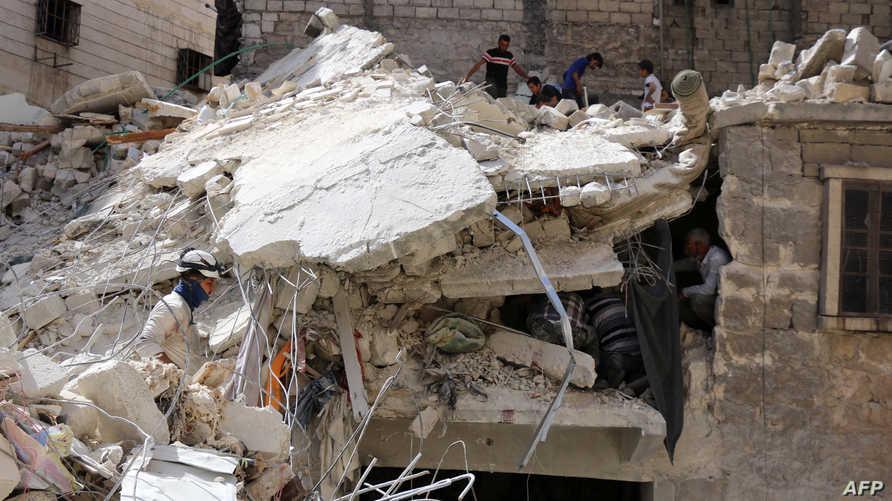 مخلفات القصف على حلب