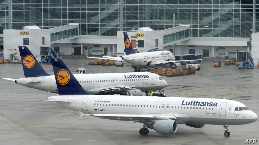 طائرات تابعة لخطوط لوفتهانزا في مطار مينونخ