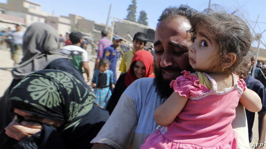 نازحون من غرب الموصل