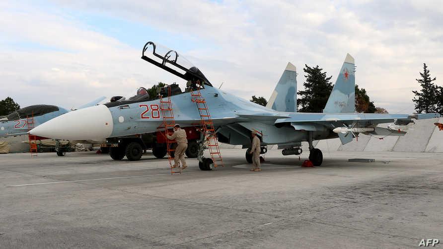 طائرة روسية تستعد لتنفيذ غارة في سورية -أرشيف
