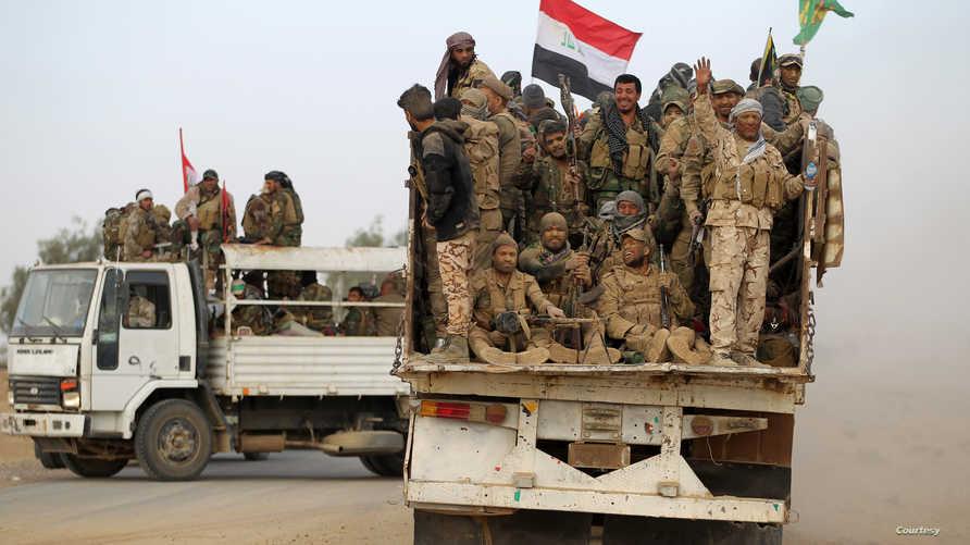 قوات الحشد الشعبي قرب الموصل
