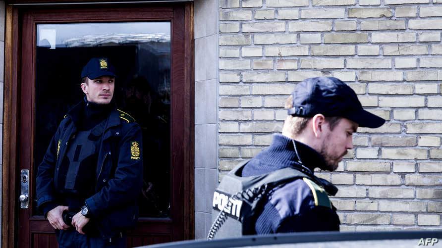 عناصر من الشرطة الدنماركية في العاصمة كوبنهاغن