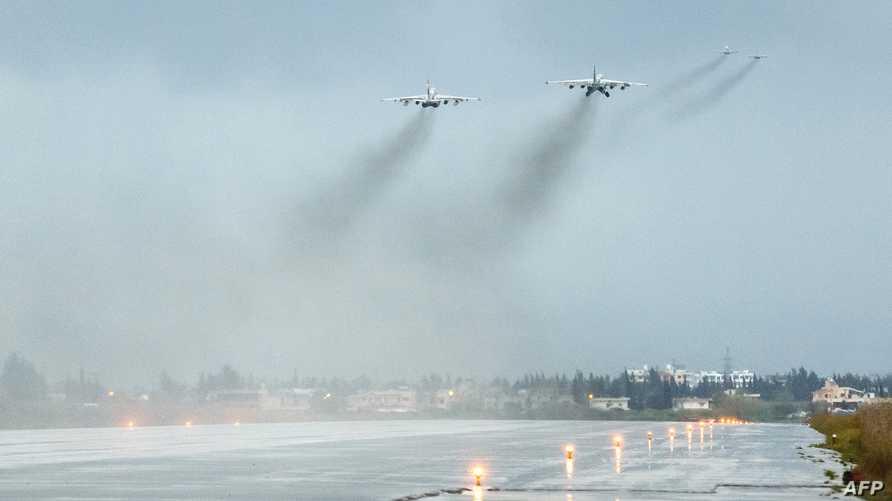 طائرات روسية تنطلق من مطار حميميم - أرشيف