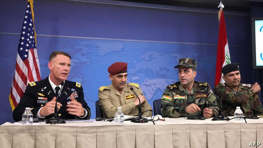 المتحدث باسم التحالف الدولي ضد داعش رايان ديلون