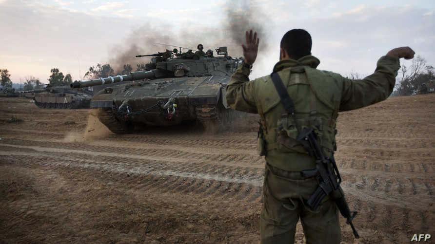 قوة إسرائيلية قرب الحدود مع قطاع غزة