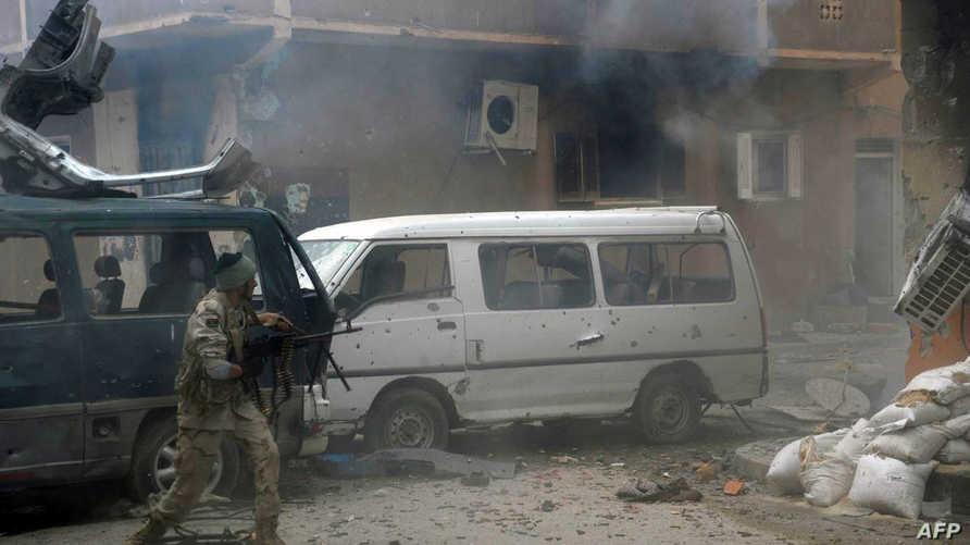جانب من المواجهات في بنغازي