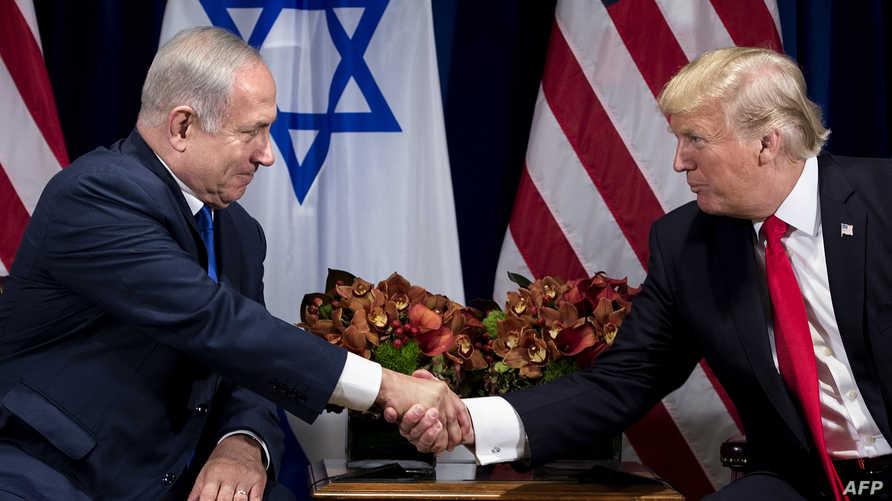 الرئيس دونالد ترامب ورئيس الوزراء الإسرائيلي بنيامين نتانياهو