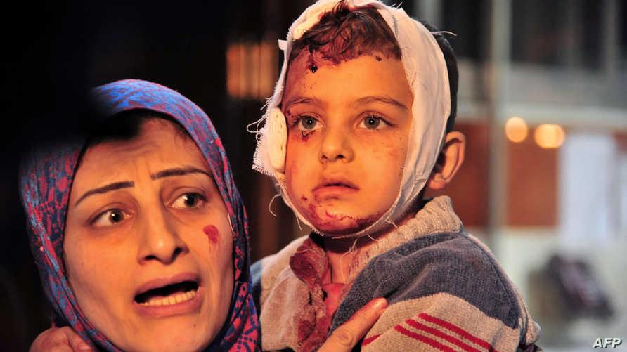 جرحى بتفجير سابق في دمشق-أرشيف