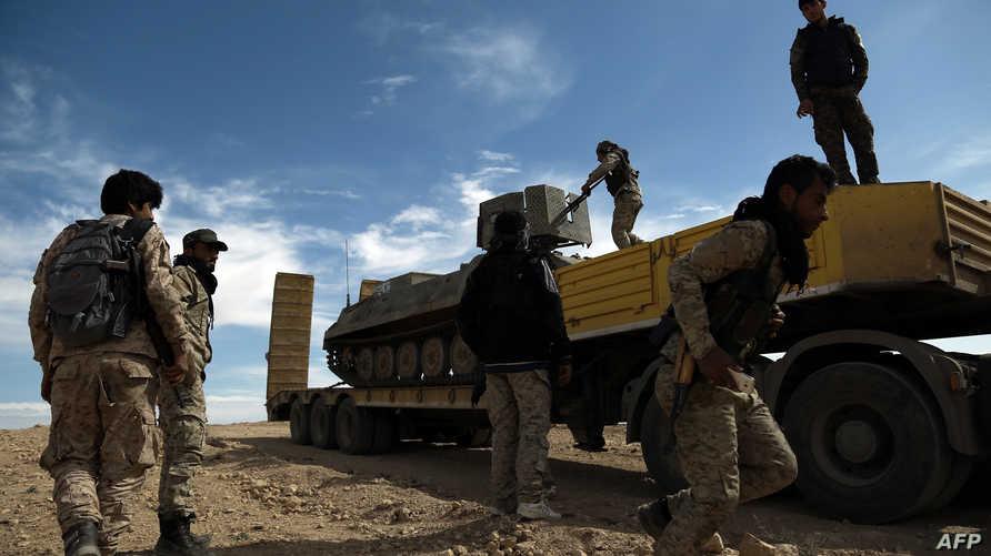 مدرعة تابعة لقوات سورية الديموقراطية في منطقة الحسكة