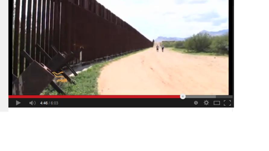 جانب من الجدار الحدودي بين أريزونا والمكسيك