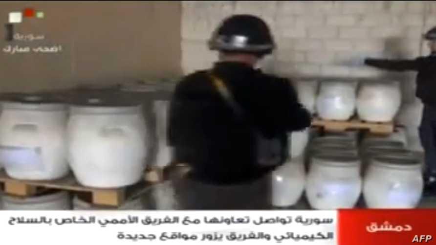 خبيران للأمم المتحدة يتفقدان موقعا للأسلحة الكيميائية في سورية