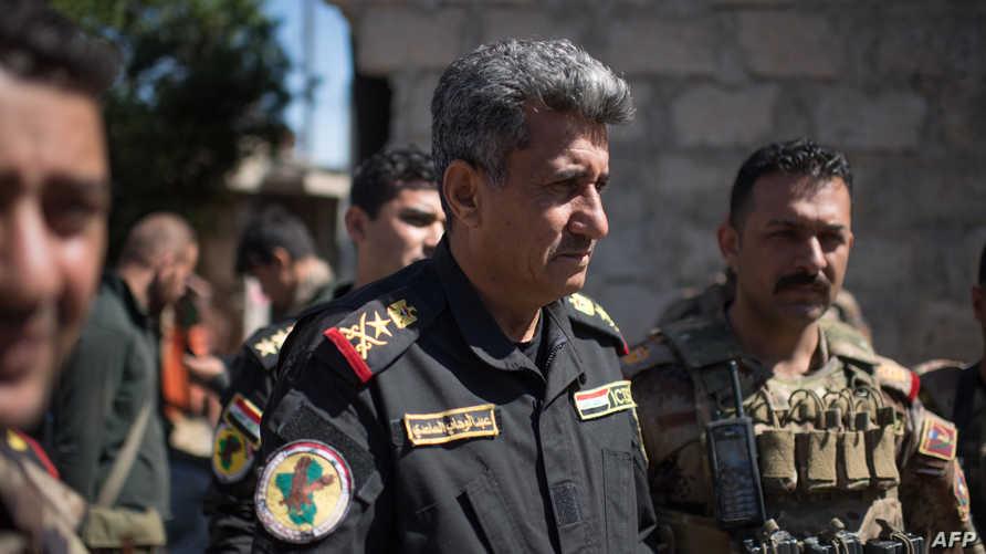 قائد قوات مكافحة الإرهاب العراقية الفريق عبد الوهاب الساعدي في جولة داخل الموصل - أرشيف