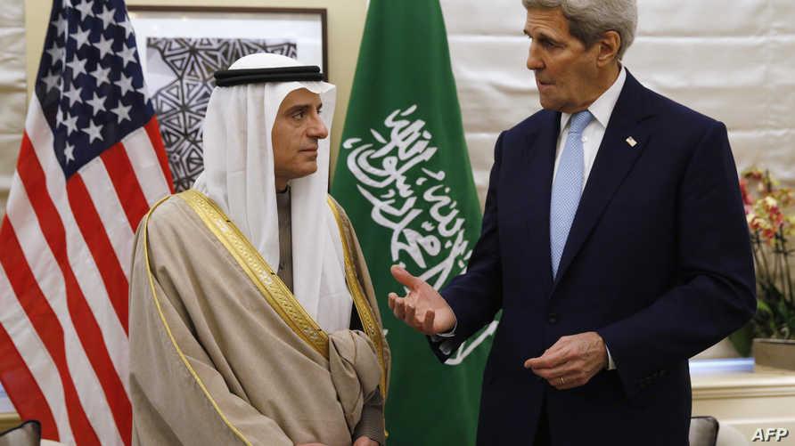 وزير الخارجية الأميركي جون كيري ونظيره السعودي عادل الجبير (أرشيف)