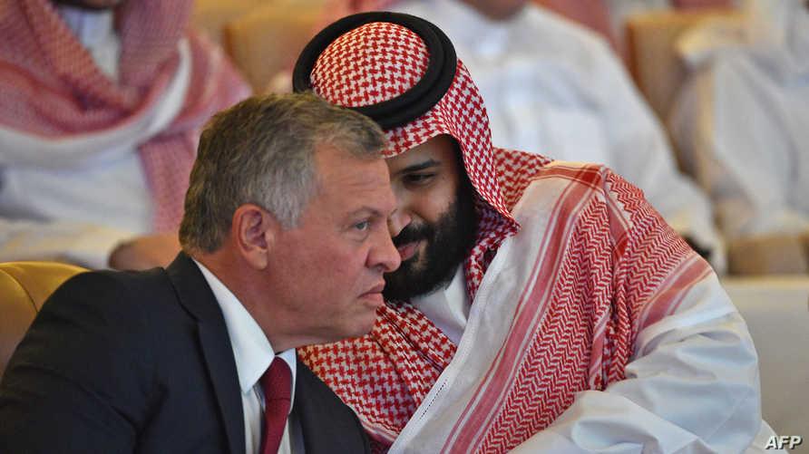 الملك الأردني وولي العهد السعودي في الرياض