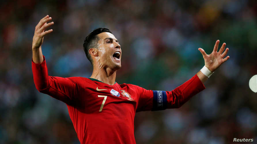 رونالدو سجل 95 هدفا مع البرتغال