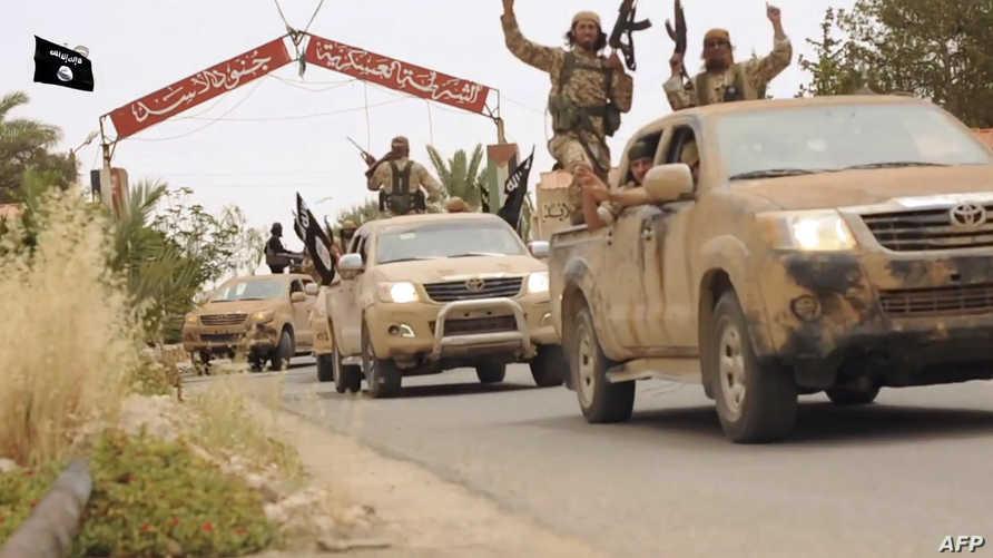 عناصر من داعش قرب حمص