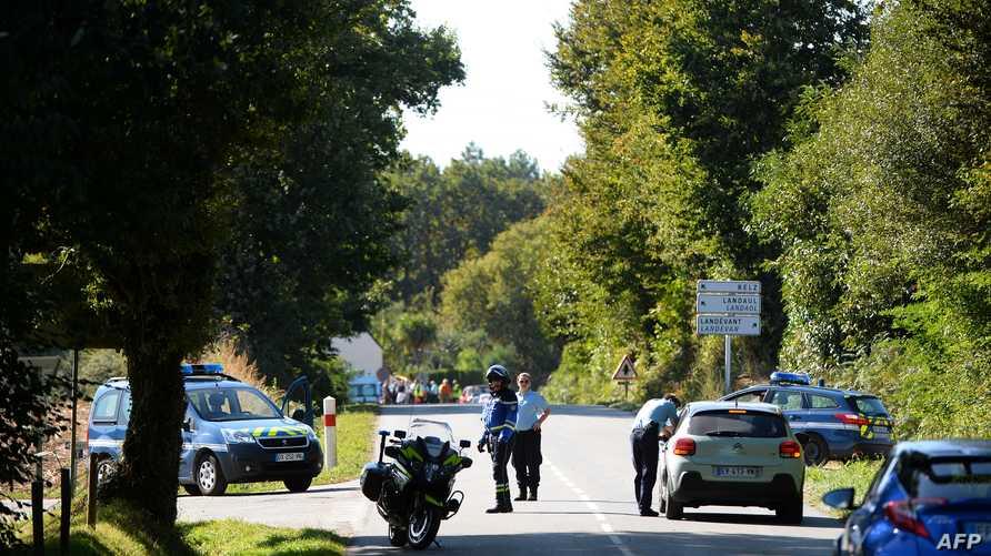 الشرطة الفرنسية تغلق منطقة قرب موقع تحطم الطائرة العسكرية البلجيكية