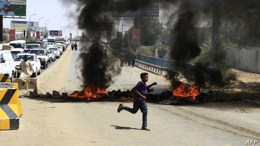 جانب من اعتصام القيادة العامة في الخرطوم