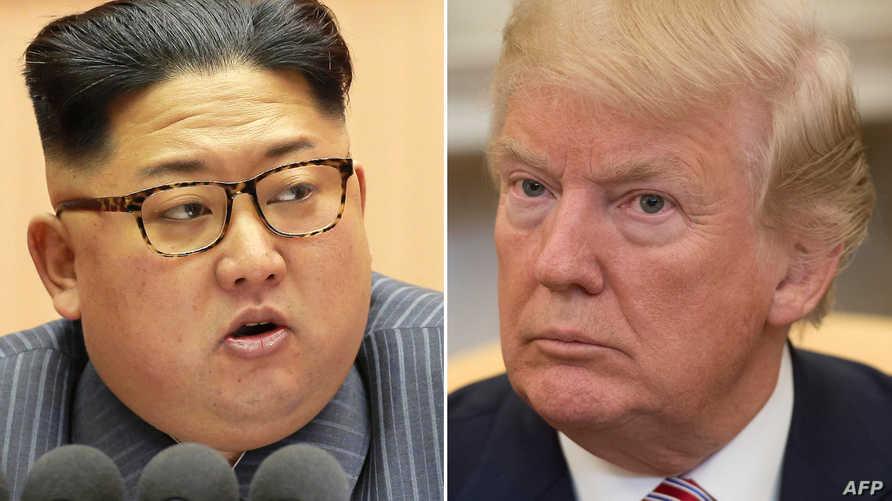 صورة مركبة للرئيس ترامب وزعيم كوريا الشمالية