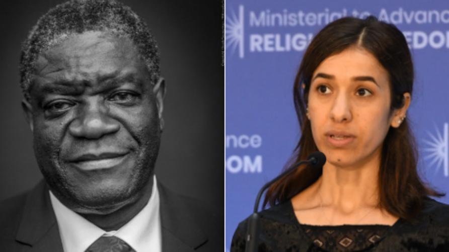 الأيزيدية ناديا مراد والطبيب الكونغولي دينيس موكويغي