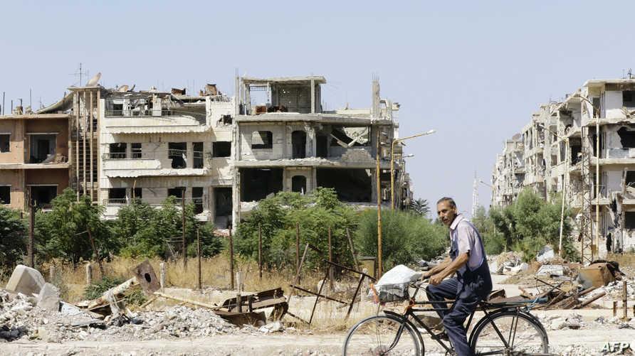 مخلفات الحرب في حمص