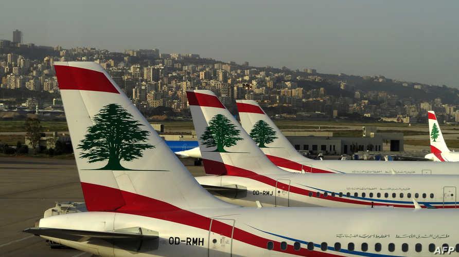 طائرات في مطار رفيق الحريري الدولي في بيروت- أرشيف