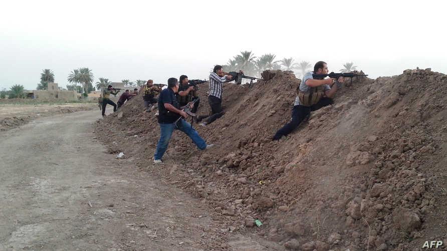 أبناء عشائر خلال معارك ضد داعش في الأنبار-أرشيف
