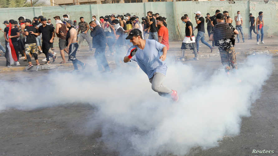 جانب من احتجاجات بغداد